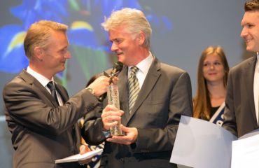 SANO Geschäftsführer Manfred Winkler bei der Preisverleihung des Wirtschaftspreises Pegasus im Jahr 2016