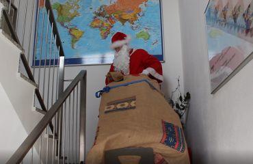 modern Santa Claus uses LIFTKAR stairclimbers
