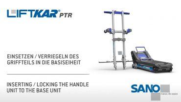 LIFTKAR PTR Treppenraupe - Einsetzen/Verriegeln des Griffteils in die Basiseinheit