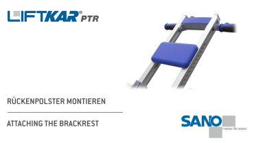 LIFTKAR PTR Treppenraupe - Rückenpolster montieren