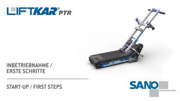 LIFTKAR PTR Treppenraupe - Inbetriebnahme/Erste Schritte
