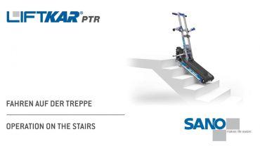 LIFTKAR PTR Treppenraupe - Fahren auf der Treppe