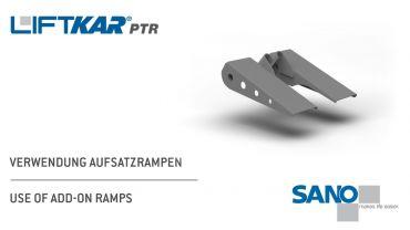 LIFTKAR PTR Treppenraupe - Verwendung Aufsatzrampen